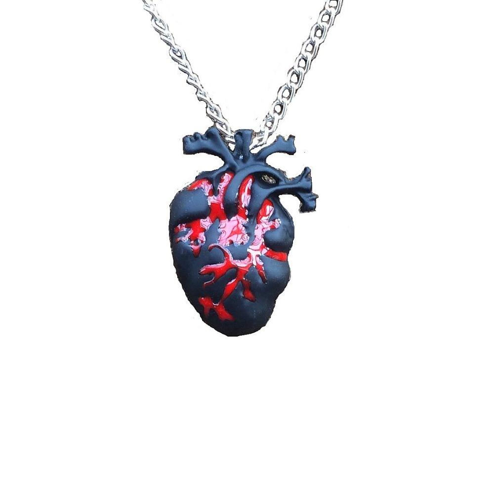 Punk Anatomia Heart Pendant Anatomy Jewelry Anatomical Heart ...