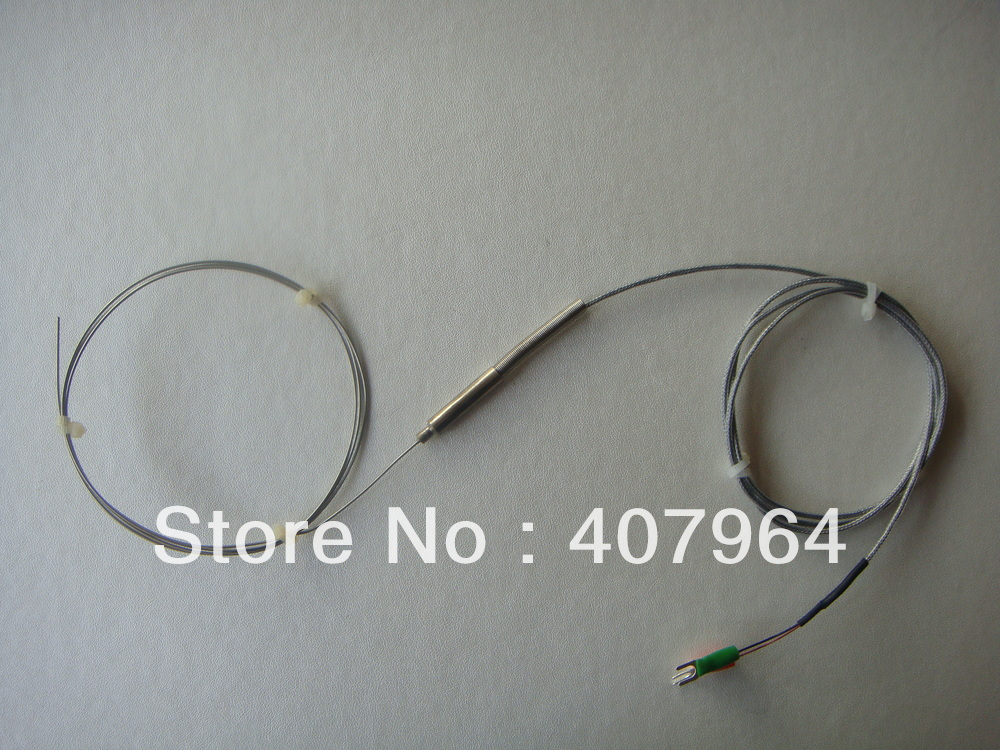K thermocouple SS304 sheath K Type 0 800C L 1000mm diameter 1mm fast delivery