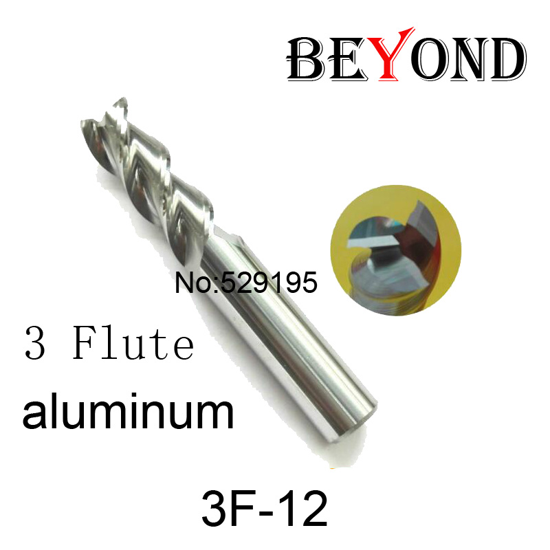 3f-12,hrc50,carbide Square Flatted End Mill,3flute Milling Cutter For Aluminum Endmill Tools Carbide Cnc End Mill Router Bits