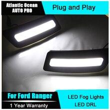 for Ford Ranger LED Light Guide Daytime Running Lights DRL, 2012~2015 LED Front Bumper Light, LED Fog Lamp case 1:1 Replacement