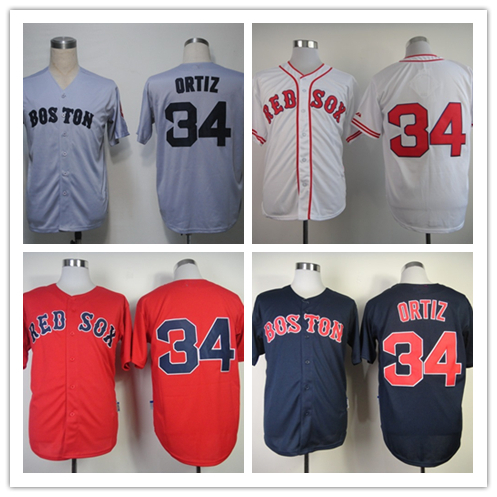 new style 336f2 0fcfb € 25.15 |Cheap Boston Red Sox Jersey 9 David Ortiz Shirts Stitched  Throwback Baseball Jersey Best Quality Free Shipping en Jerseys de béisbol  de ...