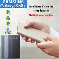 Original Samsung Galaxy S8 S8 Plus Intelligent LED View Cover Flip Wallet Case Sleep Function Automatic