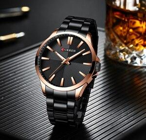 Image 3 - CURREN Watches Men Fashion Watch 2019 Luxury Stainless Steel Band Reloj Wristwatch Business Clock Waterproof  Relogio Masculino