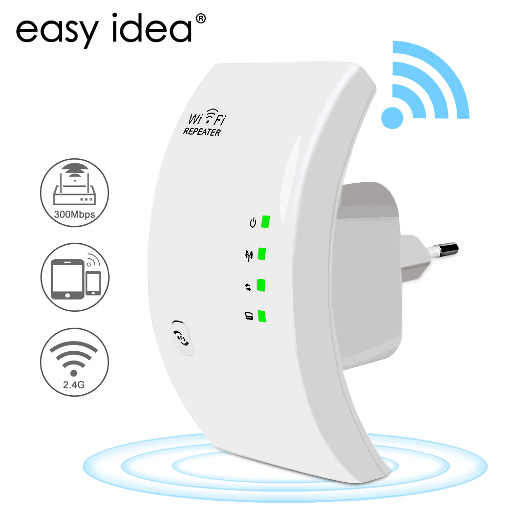 Easyidea sem fio wifi repetidor 300 mbps wifi extensor de longa distância wi fi amplificador sinal wi-fi impulsionador ponto acesso repetidor wlan