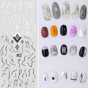 Image 3 - 1 sheet NailMAD Stone Marble Nail Water Decals Transfer Stickers White Marble Nail Art Tattoo Sticker Black Marble Water Slide