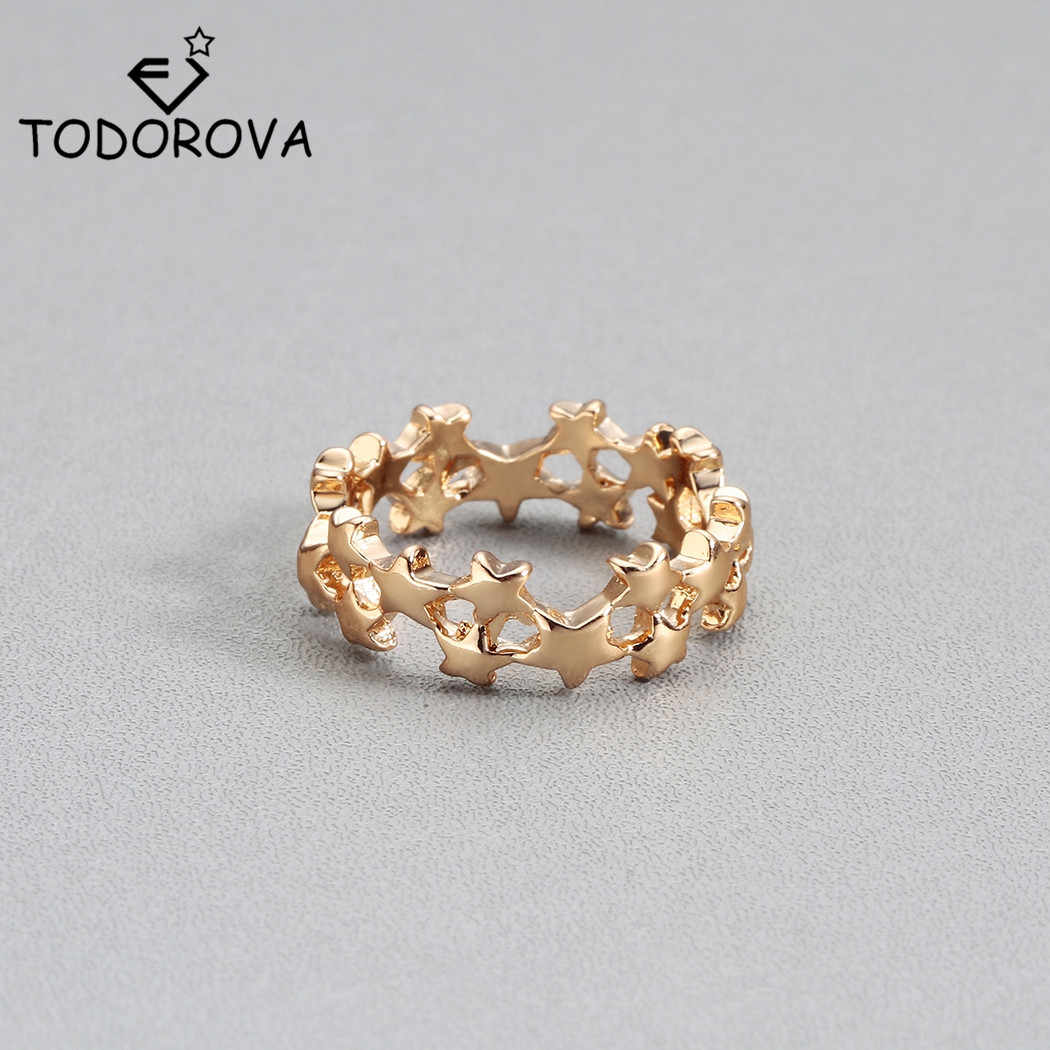 Todorova Gold Color Rings for Women Bijoux Star Trail Stackable Finger Rings Jewelry Bague Femme Knuckle Rings for Girls