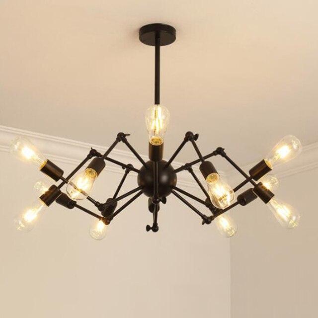 Vintage hanglampen, led industriële verlichting moderne iron bar ...