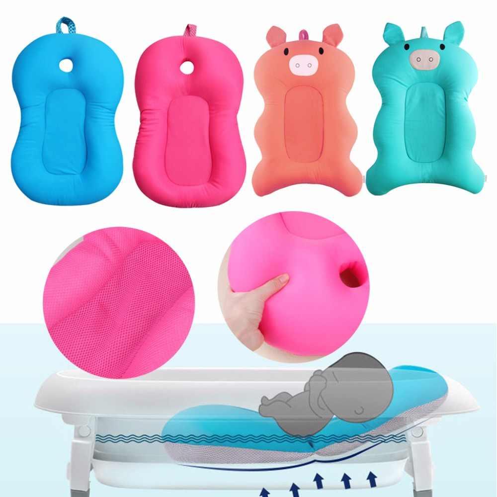 Складная детская ванночка для новорожденных, коврик для ванной стул полки ванночка для новорожденного сиденье безопасный душ Нескользящая подушка сетка мат