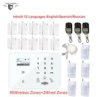 GSM Alarm System Burglar Home Alarm Wireless Motion Sensor 433MHz GSM DM 100 Door Sensor Alarm King Pigeon Cheapest K9H Kit DHL