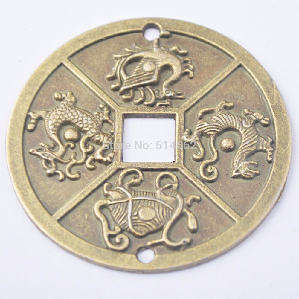 1PCS Chinese Four Celestial Animals Coins Feng Shui I Ching Coins Dia:2.4 inch Y1003