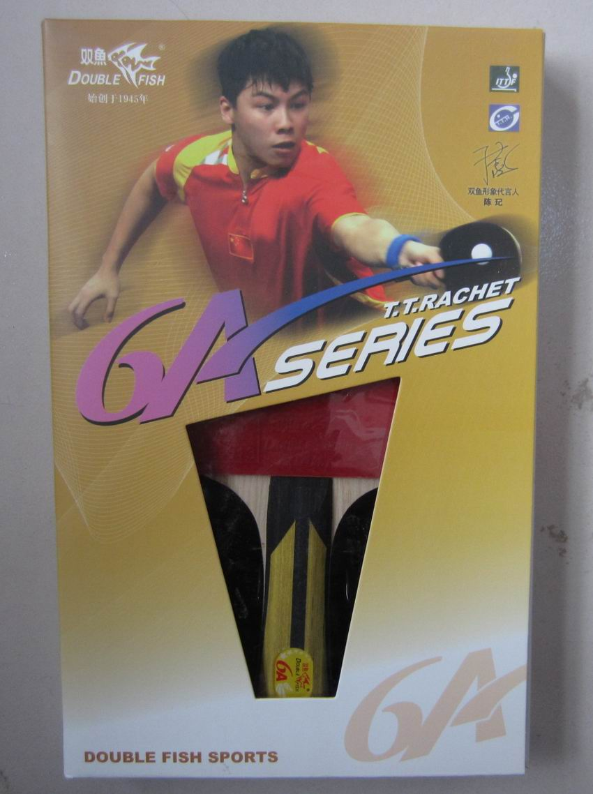 Original Finished Racket Double Fish 6 Stars 6ac Table Tennis Rackets Racquet Sports Fast Attack With Loop Pure Wood Pimples