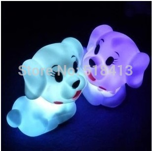 Gags & Practical Jokes Pet dog colorful light a night light Creative Gifts Flash cute dog Novelty & Gag Toys