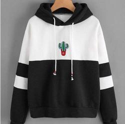 Cactus Printed Hoodies Women Long Sleeve Sweatshirts 4