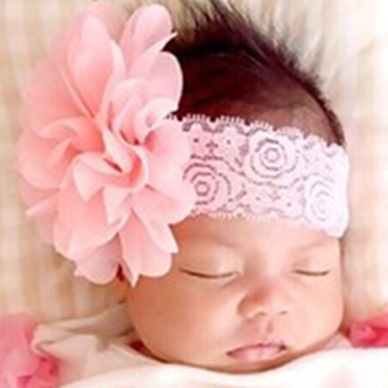 1PC Kids Girls Headband Lace Bow Big Flower Halloween Birthday Party Headdress Headwear Hairband Hair Band Accessories 2016 Hot 100