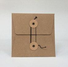 MaoTu 20 cái/gói Kraft Túi Giấy CD DVD Đóng Gói Gói Tay Áo Phong Bì Bao Bì Chủ Bìa Bìa Durable Brown