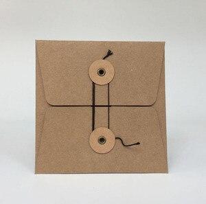 Image 1 - MaoTu 20 teile/paket Kraft Papier Tasche CD DVD Verpackung Verpackung Ärmeln Umschläge Verpackung Halter Abdeckung Pappe Durable Braun