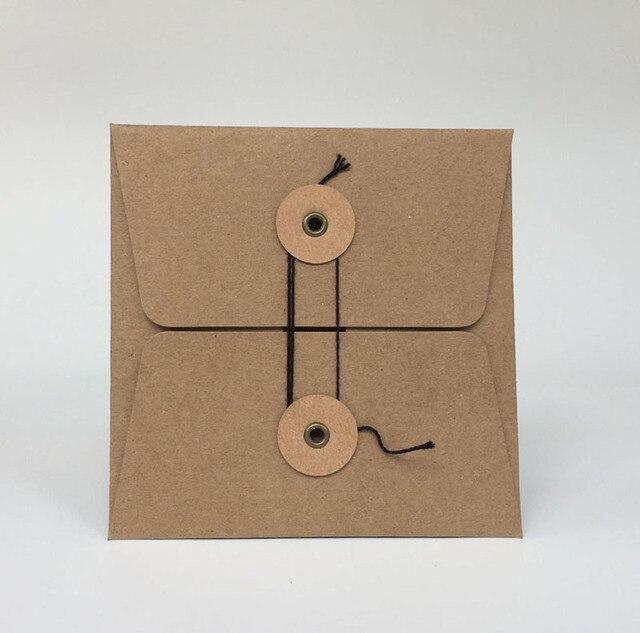 MaoTu 20 teile/paket Kraft Papier Tasche CD DVD Verpackung Verpackung Ärmeln Umschläge Verpackung Halter Abdeckung Pappe Durable Braun
