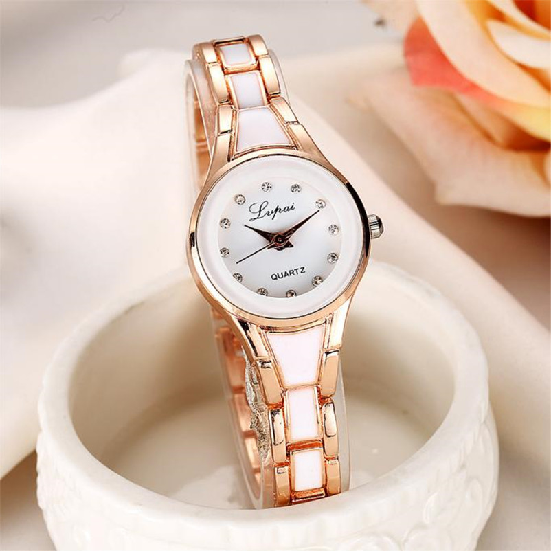 2018 Brand Women Watches Alloy Crystal Wristwatches Women Dress Watches Gift Women Gold Fashion Luxury Quartz Watch