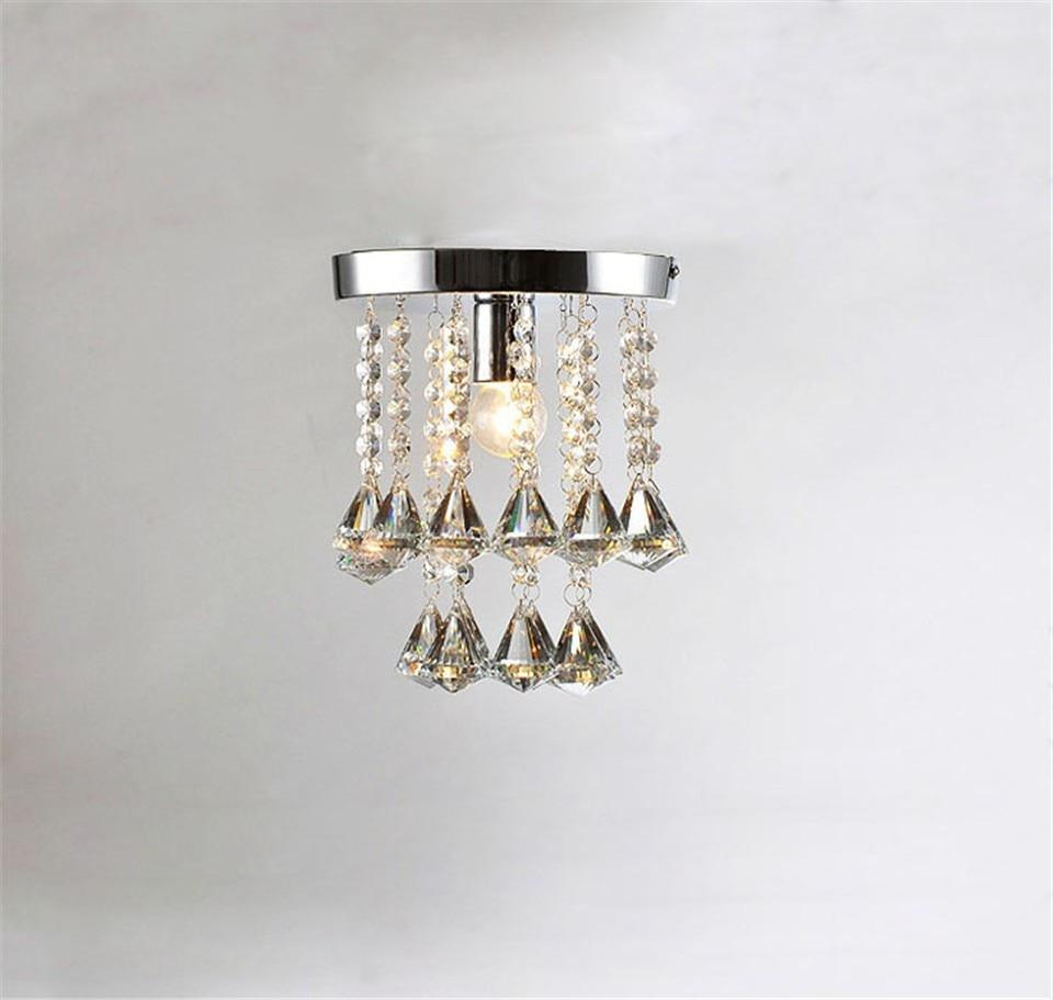 ФОТО led chandelier light E14 E27 socket 95-245v waterproof driver laser stainless steel base K9 crystal Small design Foyer Bedroom