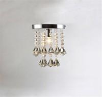 led chandelier light E14 E27 socket 95 245v waterproof driver laser Metal base K9 crystal Small design Foyer Bedroom
