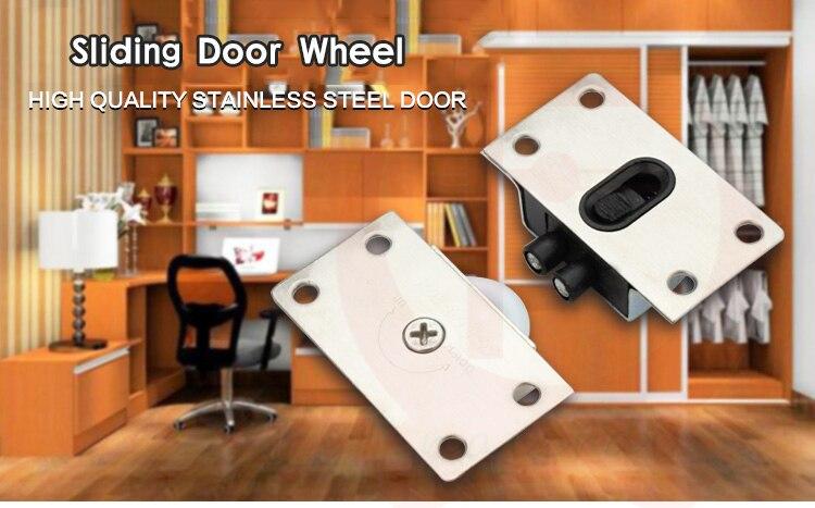 online shop 4set ned aps stainless steel sliding door wheel cabinet nylon wheels hanging wheel parts door rollers door hardware aliexpress mobile