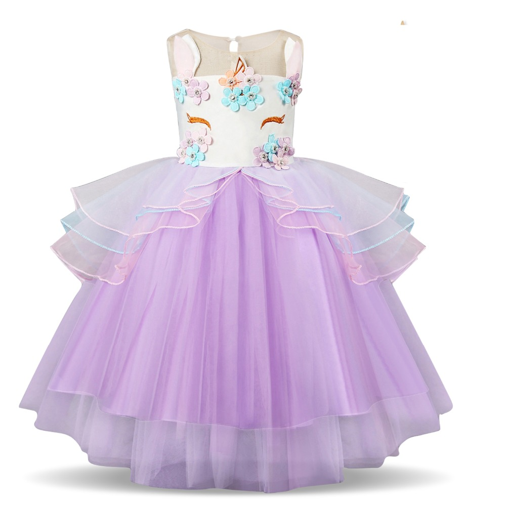 146b339642 2019 Fancy Unicorn Party Vestido Baby Girl Tutu Dresses Summer 2019 Kids  Clothes For Girls Embroidery Flower Girl Birthday Costume From Ys_shop, ...
