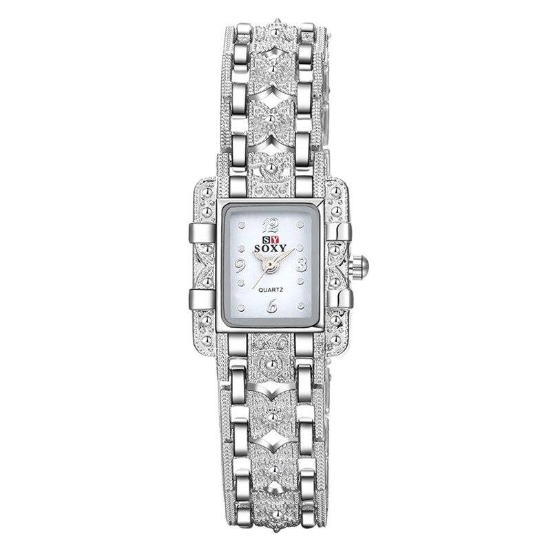 Mode Klocka Kvinnor Silver Klocka Kvinnor Armband Armbandsur - Damklockor - Foto 4