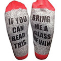 IF YOU CAN READ THIS Socks Women Funny Custom wine Sock Hot Sale spring fall 2017 for Valentine Bring Me A Glass Of Wine