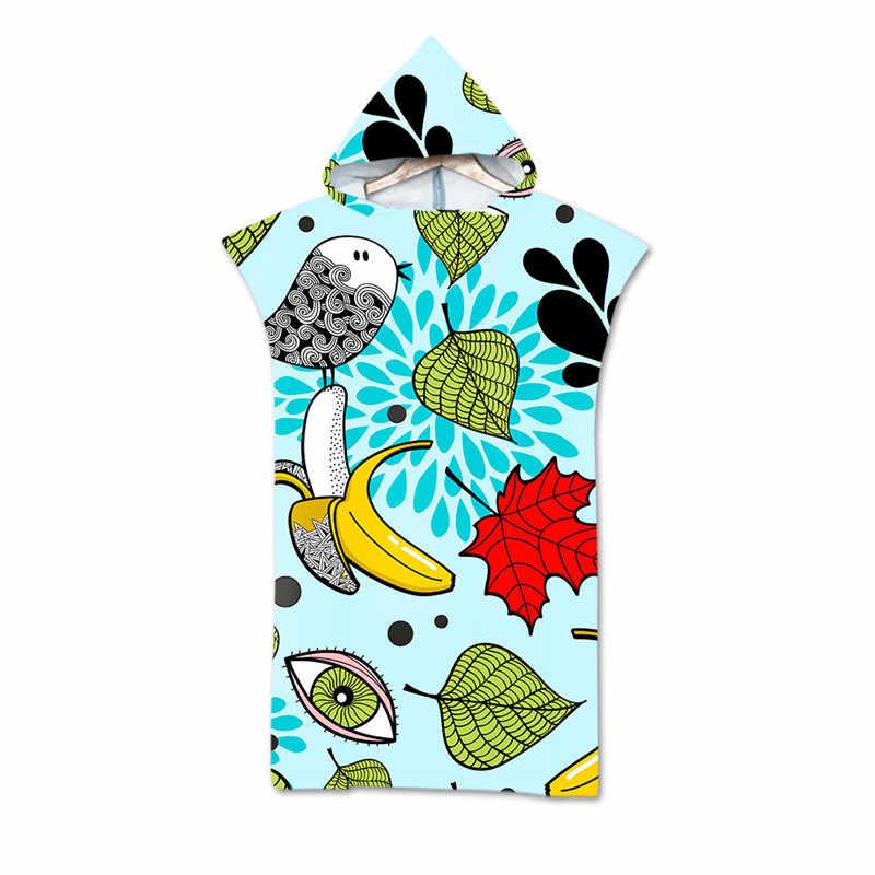 Frutta Stampato Telo Da Bagno Con Cappuccio Mantello In Microfibra per Adulti Delle Donne Accappatoio Piscina Asciugamani Da Spiaggia Da Surf Poncho Muta toalla