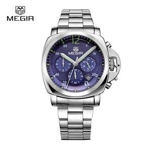 Image 4 - Megir montre daffaires à quartz étanche, en acier inoxydable, pour hommes, 3006, livraison gratuite, montres de mode pour hommes