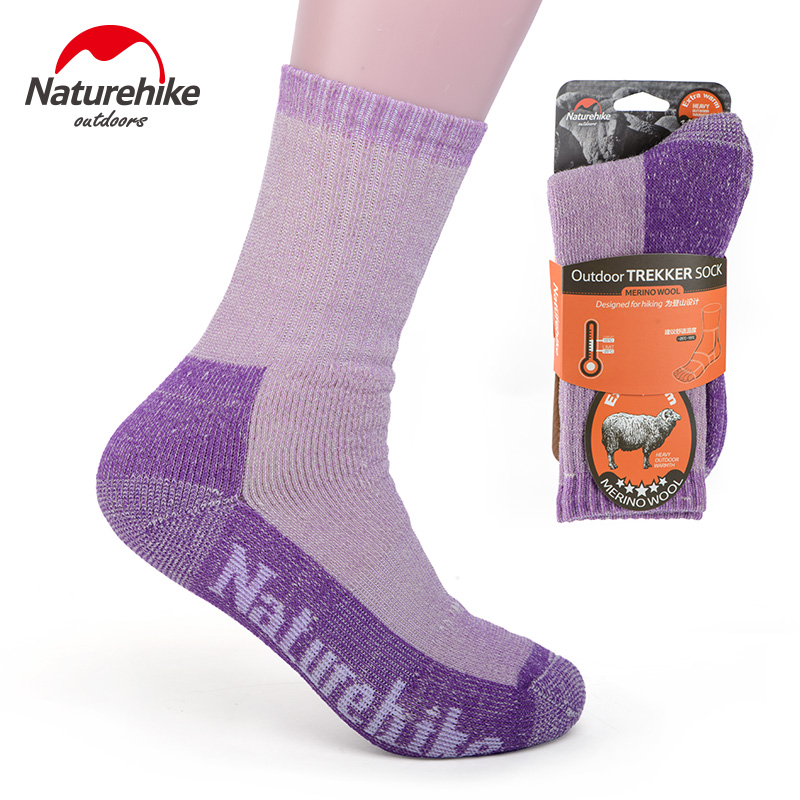 Naturehike winter men women outdoor camping hiking sports Socks thick Merino Wool warm cycling skiing Socks