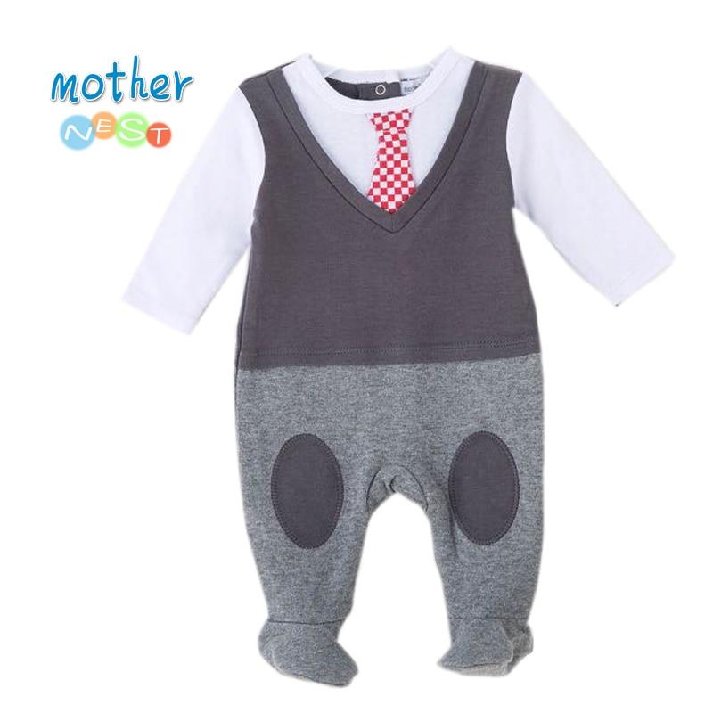 228c39ccd4b1 Detail Feedback Questions about Baby Boy Romper Newborn Gentleman ...