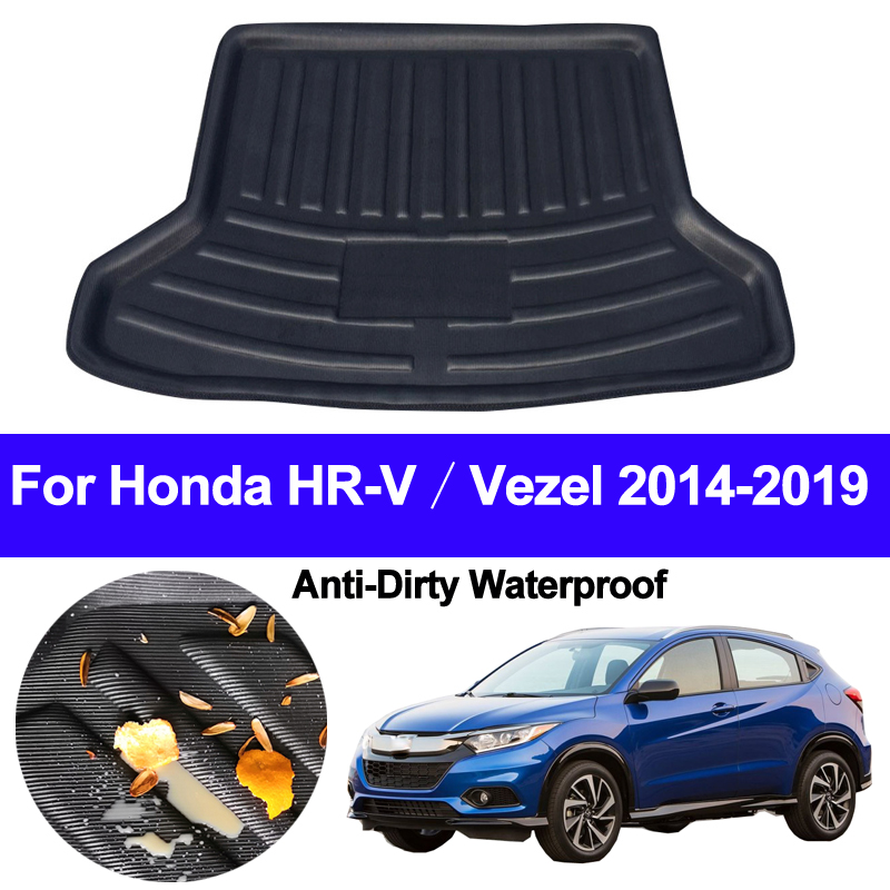 Rear Boot Cargo Liner Trunk Floor Mat Carpets Tray Mats Pad Mat Carpet For Honda HR V HRV Vezel 2014 2015 2016 2017 2018 2019