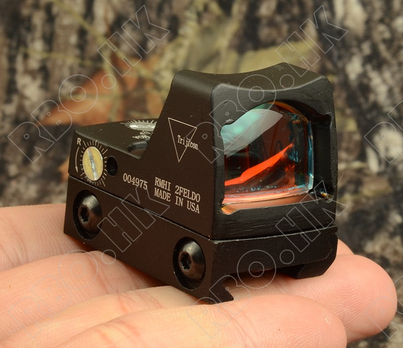 Mini RMR 1x Red Dot Sight Scope Collimator Glock / Shotgun Reflex Sight Scope Fit 20mm Picatinny Rail Mount M4379
