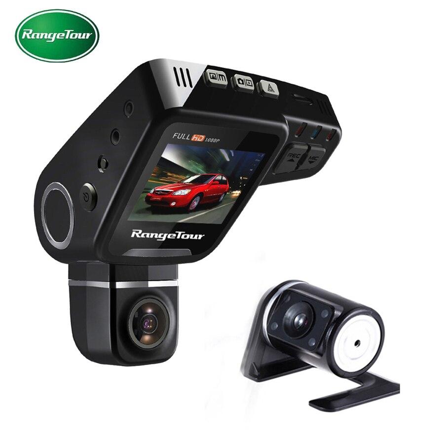 """imágenes para RangeTour Lente Dual Cámara Del Coche DVR Del Tablero C10S Plus Full HD 1080 P Dash Cam Visión Nocturna 2 """"LCD de Vídeo Recroder Videocámara"""