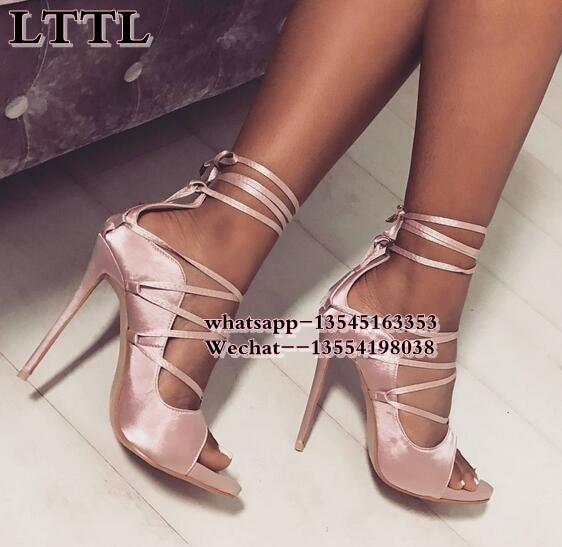 2019 Nouvelle Picture Rihanna Pompes Top Dame Noir as Sandales The Haut Sexy D'été Gladiateur Picture Lacent Chaussures Vente Même Style As Robe Talon RqxxtwE