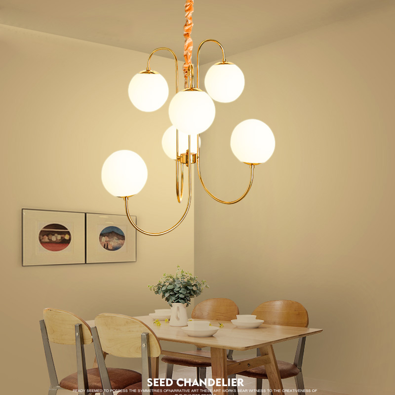 Postmodern style creative glass ball pendant lights minimalist Nordic for living room bedroom dining room pendant lamp restauran postmodern minimalist fans glass art decor chandeliers g9 6 9 heads creative pendent lights living rooms dining room bedroom