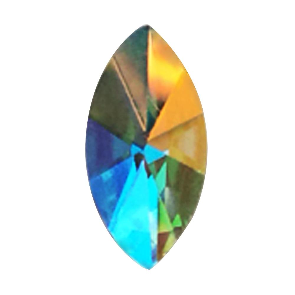 288pcs 4x8mm 5x10mm 3x11mm Crystal AB 3D AAAA Quality  Diamond Rhinestone Decoration For Nail Art Garment Shoes Decoration 288pcs 4x6mm 6x8mm crystal ab 3d nail art tips rhinestone decoration for nail tools for nail art garment shoes decoration