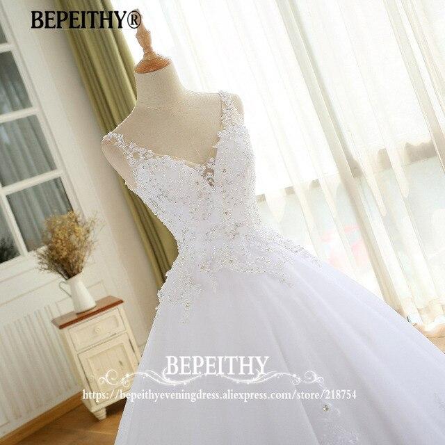 Lindo vestido de noiva vestido de baile com renda vestido de novia princesa vestidos de casamento do vintage imagem real vestido de noiva 2021 5