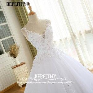 Image 5 - Gorgeous Ball Gown Wedding Dress With Lace Vestido De Novia Princesa Vintage Wedding Dresses Real Image Bridal Gown 2020