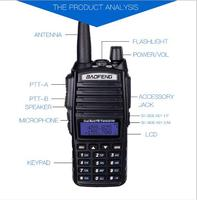cb רדיו 1Sets UV82 כף יד UHF VHF משדר FM שתי דרך תחנת רדיו CB רדיו מכשיר הקשר Baofeng UV82 (4)