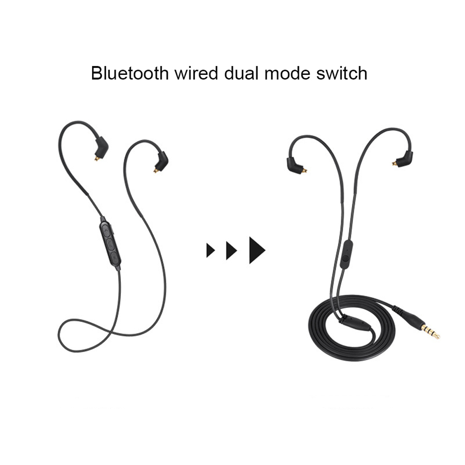 TTLIFE Wireless+Wired Earphone QC5 Bluetooth Sports Stereo Detachable Original 3.5mm Headphone With Microphone For Phone Xiaomi
