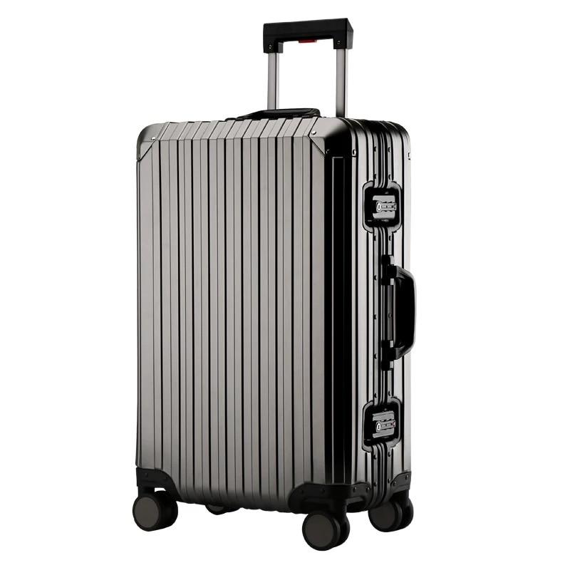 2018 Neueste 100% Alle Aluminium Männer Hohe Qualität Roll Gepäck Tasche Reisetasche Frauen Spinner Marke Trolley Koffer Auf Rädern GüNstige VerkäUfe
