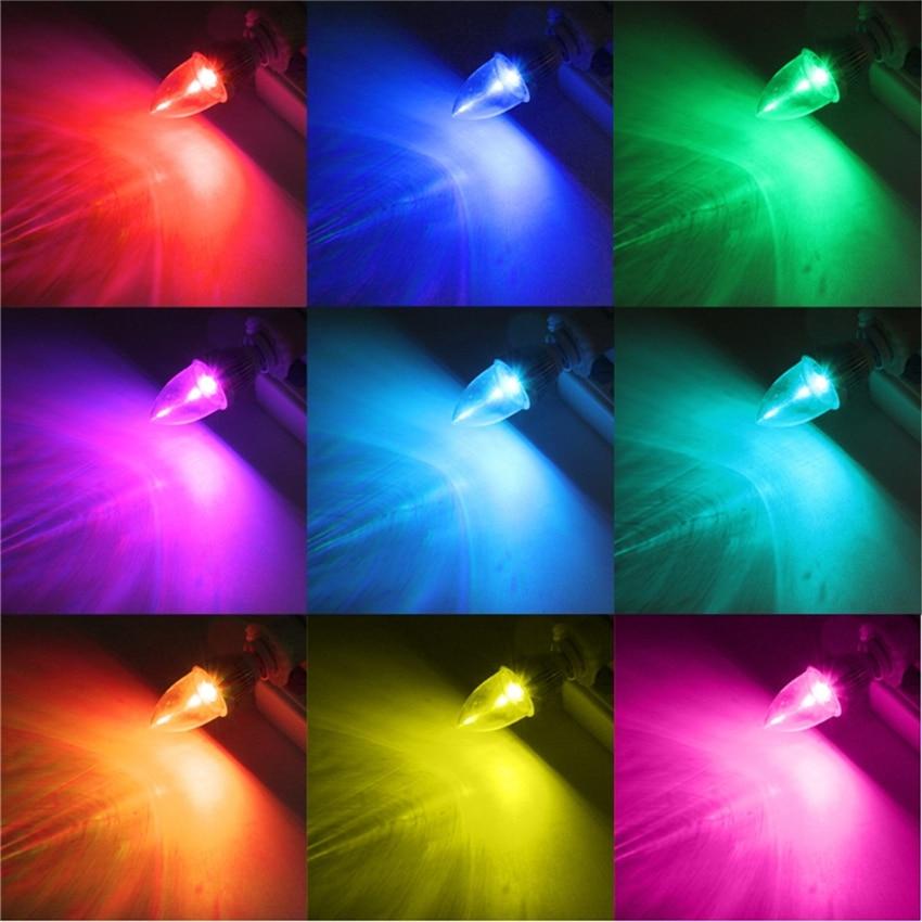 Купить с кэшбэком E12/E14 RGB Bulbs 5W LED Bulbs 15 Colors Changing Candle Light Bulb Lamp W/Remote Control AC85-265V Colorful Lampada Lampen