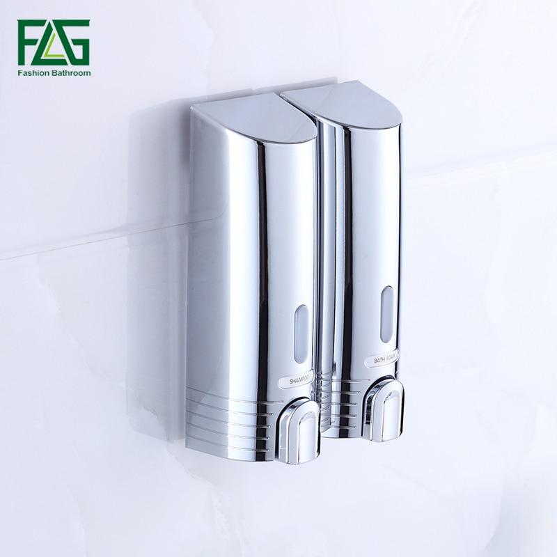 Double Soap Dispenser Wall Mounted Soap Shampoo Dispenser Shower Helper For Bathroom Bath Shower Accessories