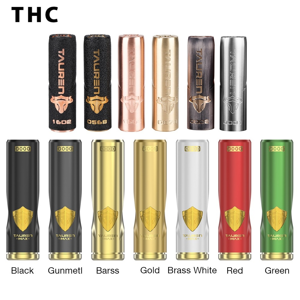 THC Tauren Max Mech MOD 24mm Diameter Waterproof Shockproof Dustproof Power by 18650 Battery Vape Vaporizer
