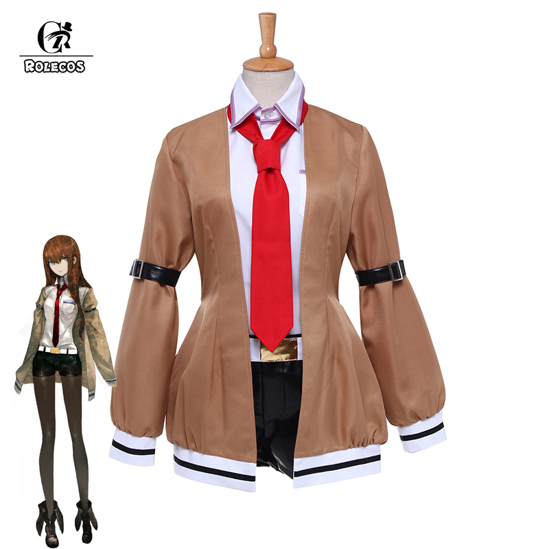 ROLECOS Gioco Anime Steins; Gate Costumi Cosplay Makise Kurisu Cosplay Steins; Gate 0 Cosplay Anime Giapponese Pieno Set