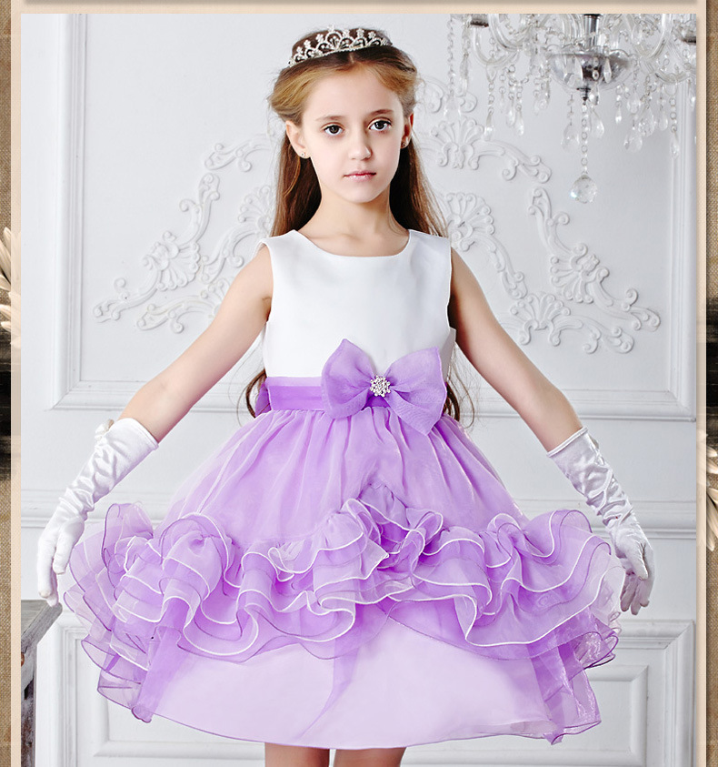 Wedding Gowns Kids Formal Party Christening Communion Flower Girl Dresses Infant Pageant for Little Girls 2-7 Years