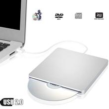 USB zewnętrzna nagrywarka DVD napęd optyczny napędu SuperDrive dla apple imac 27 #8222 21 5 #8221 20 #8222 8X DL podwójna warstwa DVDRW pisarz pamięci RAM 24X CD-R palnika biały tanie tanio Pulpit Laptop Zewnętrzny Typ Sucker Dvd + rw Dvd burner Usb2 0 other MLLSE 2 mb Nowy Dvd-rw Silver
