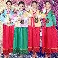 2016 Новый Корейский Ханбок Вечерние Платья Азии Традиционная Одежда женская Одежда Платья Танцы Платья Певица Костюм Косплей